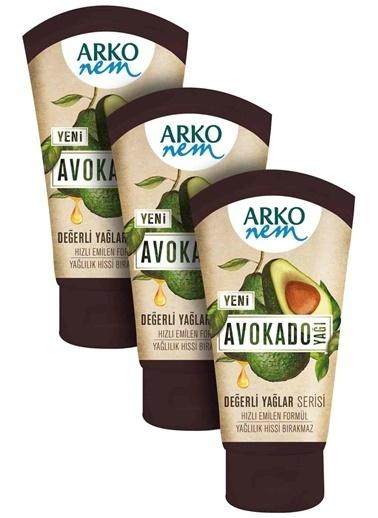 Arko Arko 3'Lü Değerli Yağlar Avokado Yağı 3 X 60 Ml Renksiz
